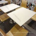 best sell solid surface canteen tables and chairs