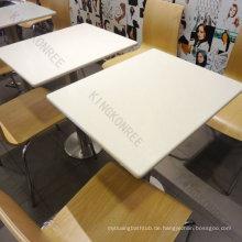 beste verkaufen feste Oberflächenkantinentische und -stühle