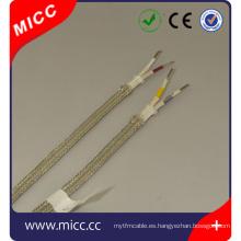 Cable de extensión del termopar Tipo KX-FG / FG / CUB / TEF-2x6 / 0.3