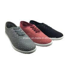 Zapatilla de deporte que camina de las mujeres baratas con la inyección de la suela exterior del PVC (J2616-L)