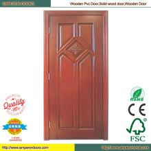 Caro puerta madera puerta madera redonda de madera de la puerta