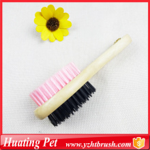 Good quality 100% for Pet Deshedding Brush Wooden handle double use comb supply to Estonia Supplier