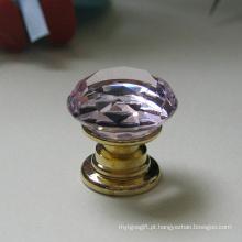 O cristal cor-de-rosa K9 da mobília dos miúdos puxa 20mm no bronze