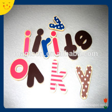 Cute design color wooden alphabet nice fridge magnet