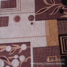 Tissu de polyester teint par fil de Chenille de Jacquard pour le sofa