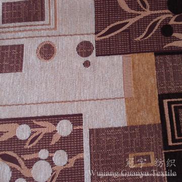 Жаккарда Синеля Пряжа Покрашенная ткань полиэфира для софы