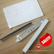 Perfil de techo y tablero de fibra mineral Sistema de techo de suspensión