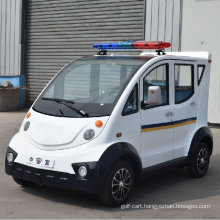 High Quality 4 Seater Electric Closed Style Street Laminated Glass Small Police Patrol Car with Ce SGS Certificate