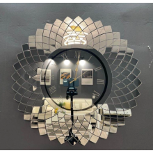 Mirror wall clock for cheap online sale
