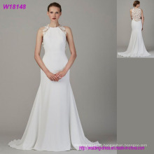 Customize High-End Real Wedding Dress Floor Length A-Line Bride Dress for Wedding