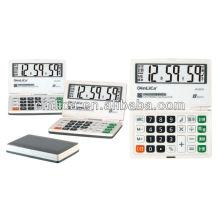 8 dígitos multifunções calculadora dobrável JS-2018 com bibi som mini calculadora de bolso