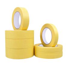 Pintura automotiva crepe de fácil remoção 120 graus Pintores amarelo remessa fita adesiva de papel
