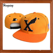 Yellow Snapback Hat Flat Bill Caps (R022)