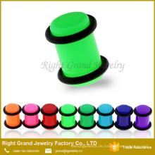 Neon Farbe UV Acryl Ohrpaß Piercing Schmuck