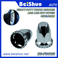 Quick Silver Chrome Plastic Truck Lug Nut Covers