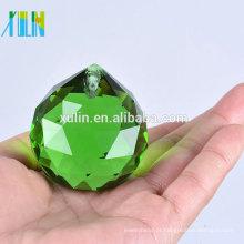Bola verde de cristal dos candelabros dos prismas das peças de iluminação da bola dos candelabros de 20mm bola de Feng Shui