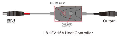 L8 12V16A Heat Controller