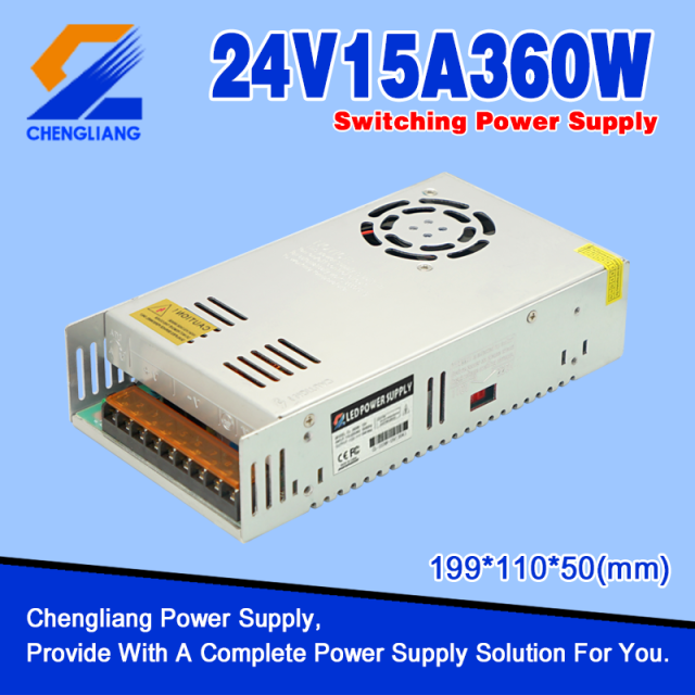 AC DC LED Power Supply 24V 15A 360W
