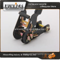 super quality 1.5''soft handle ratchet tie down made for sale;cargo strap;weight lifting belt