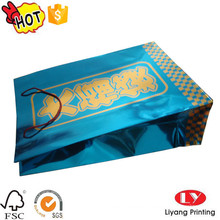 Glossy product paper packaging bag with logo