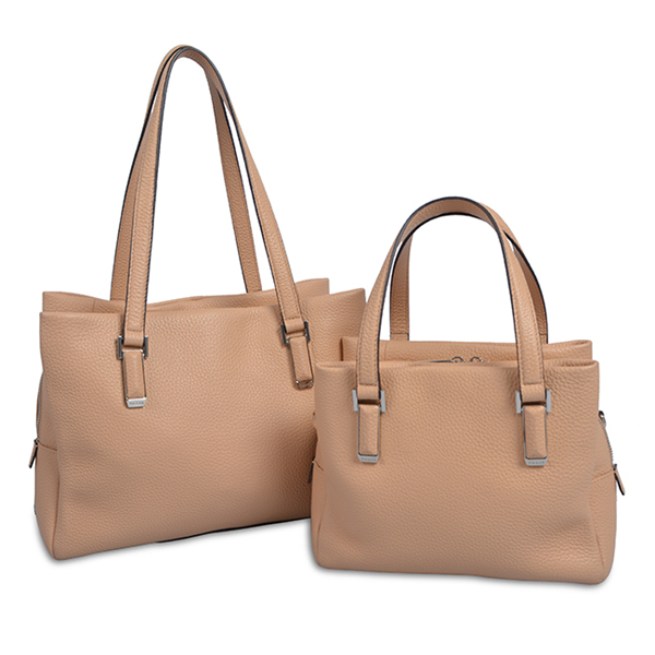 Large Style Women Custom Pink PU Leather Tote Bag