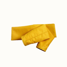 Filter bag of glass fiber aramid fabric