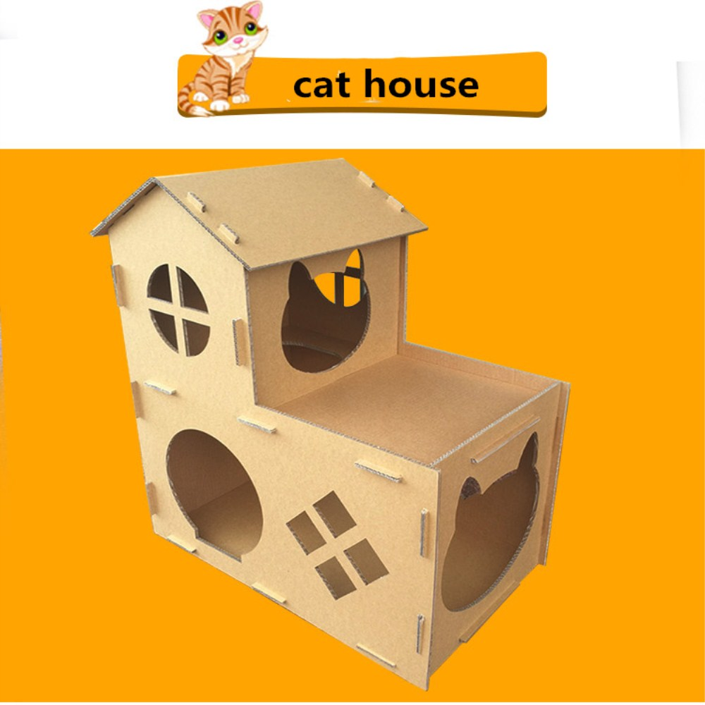 cardboard box cat castle