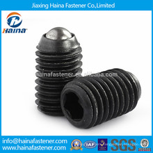 Black plated carbon steel spring and plunger set screw with ball