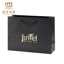 Saco de papel luxuoso da impresso feita sob encomenda do logotipo para o boutique da roupa