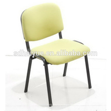 Suave cojín Home Furniture Fabric comedor silla con patas de tubo de metal
