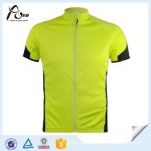 OEM Men ′ Sport manga curta Jersey Coolmax camisa de ciclismo