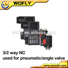24v dc pneumatic 3/2 way solenoid valve for angle valve