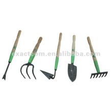 conjunto de herramientas mini jardín