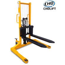 China Professional Supplier for Battery Power Pallet Reach Truck 1T 1.6M Hand Stacker of Straddle Legs supply to Greece Suppliers