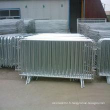Barrière de contrôle de foule galvanisée plongée chaude