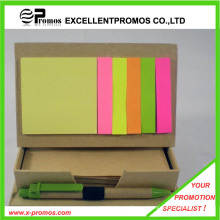 Promocional bloc de notas pegajoso reciclado con pluma (EP-M5261)