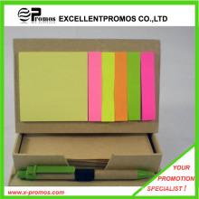 Promocional bloco de notas pegajoso reciclado com caneta (EP-M5261)