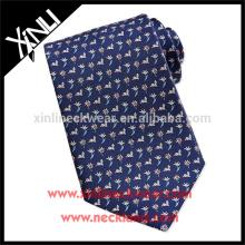 China Printed Tie manufacturers 100% Handmade Silk Neck Tie Birds