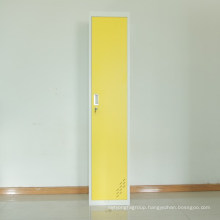Office furniture staff use metal locker with yellow color