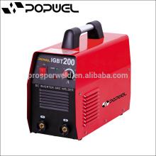 Alta calidad Personalizada IGBT monofásico máquina portátil de soldadura de arco, soldador arco, soldador arco 200 inversor