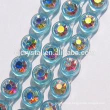 Disponível Single Row Plastic Rhinestone Banding Trim