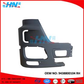 9438800104 Heavy Duty Corner Bumper Automotive Body Parts For Mercedes Benz Trucks