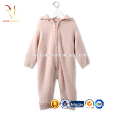 Ensembles de vêtements de bébé de layette rose de cachemire