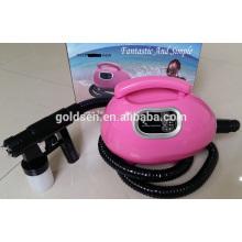 Handheld Pequeña cama de bronceado portátil Sistema de pulverización de la máquina de bronceado Professional Airbrush Mini HVLP Spray Tan Gun