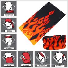 Werbeartikel multifunktionale Kopfbedeckungen Schal nahtlose Sportschlauch Halstuch Stirnband Balaclava