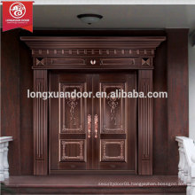 Quality Luxury Bronze Door, Double Swing Entry Copper Door