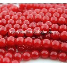 Gafas de la cadena de la perla, perla de cristal al por mayor de cristal, joyería de perlas