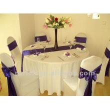Venta por mayor baratos mantel del poliester del 100%, cubierta de tabla del partido, ropa de mesa de boda decoración