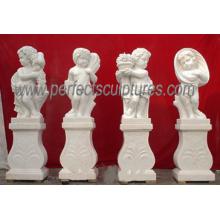 Stein Marmor Carving Cherub Statue Engel Skulptur (SY-X002)