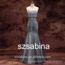 PD10004 новое платье бусины вечернее платье русалка платье 2016 свадебное платье